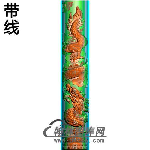龙立柱精雕图(MBLZ-2414)