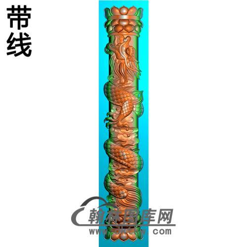 龙立柱精雕图(MBLZ-2415)