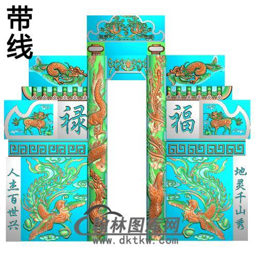 石雕墓碑套图精雕图(ZHTB-9)