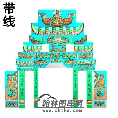 石雕墓碑套图精雕图(ZHTB-10)