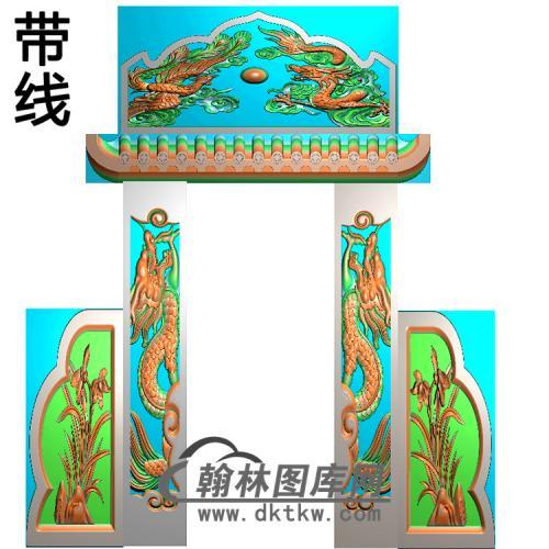 石雕墓碑套图精雕图(ZHTB-14)