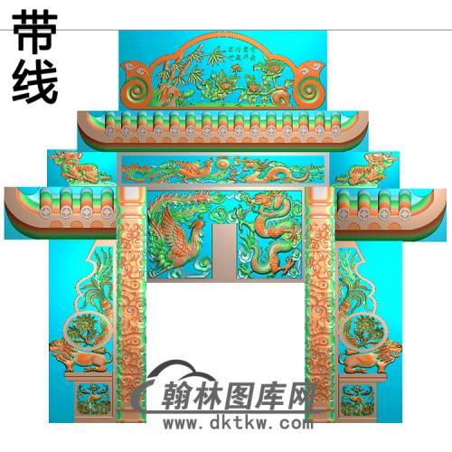 石雕墓碑套图精雕图(ZHTB-16)