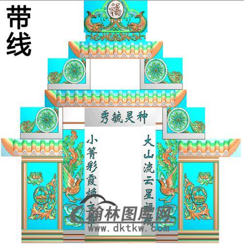 石雕墓碑套图精雕图(ZHTB-17)