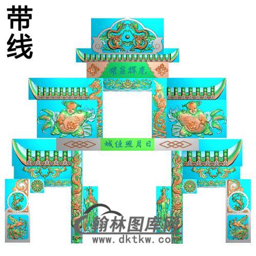 石雕墓碑套图精雕图(ZHTB-27)
