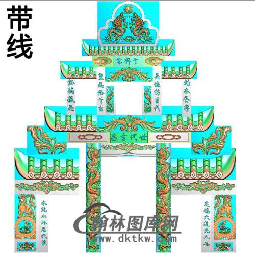 石雕墓碑套图精雕图(ZHTB-28)