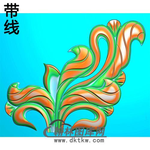 洋花耳朵精雕图(MBED-0775)