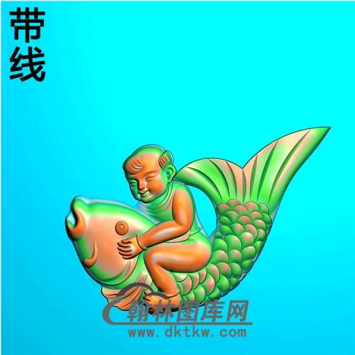 鱼娃耳朵精雕图(MBED-0776)