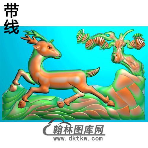 松鹿耳朵精雕图(MBED-0778)
