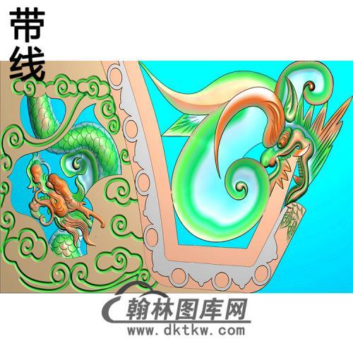 龙耳朵精雕图  (MBED-0783)
