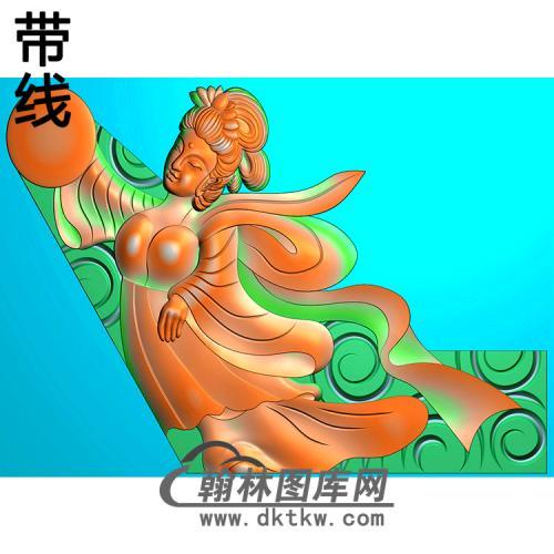 仙女耳朵精雕图(MBED-0786)