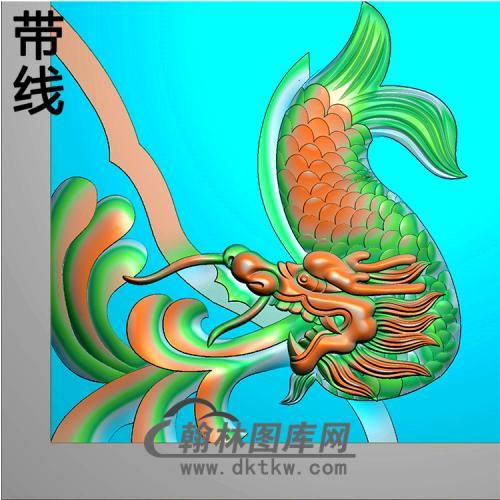 鳌鱼耳朵精雕图(MBED-0791)