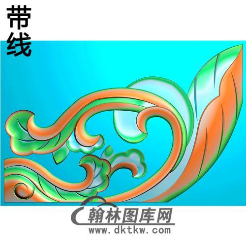 洋花耳朵精雕图 (MBED-0792)