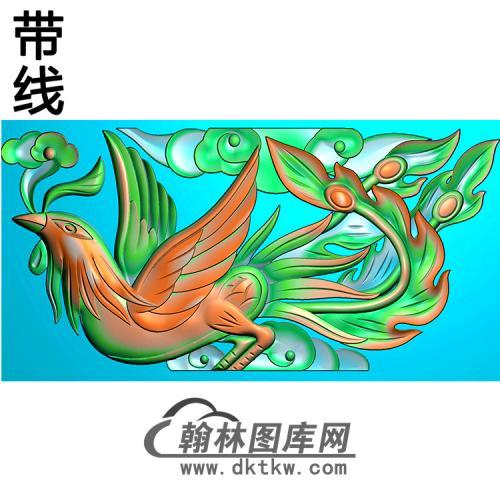 凤耳朵精雕图 (MBED-0796)