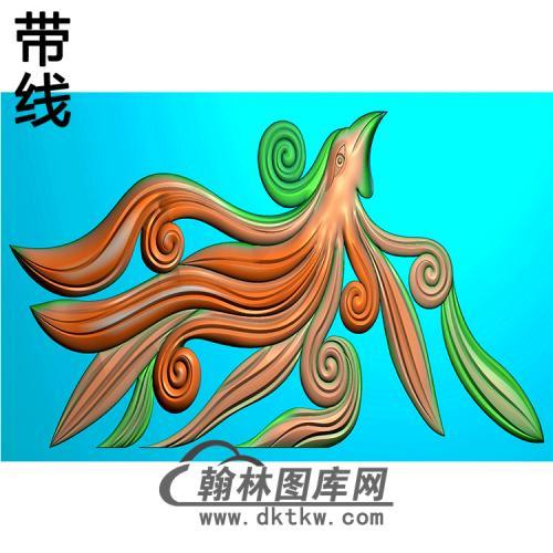 草凤耳朵精雕图  (MBED-0798)