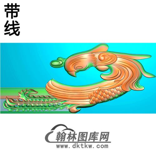草凤耳朵精雕图  (MBED-0800)