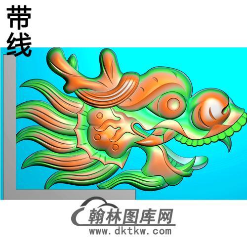 龙头耳朵精雕图(MBED-0805)