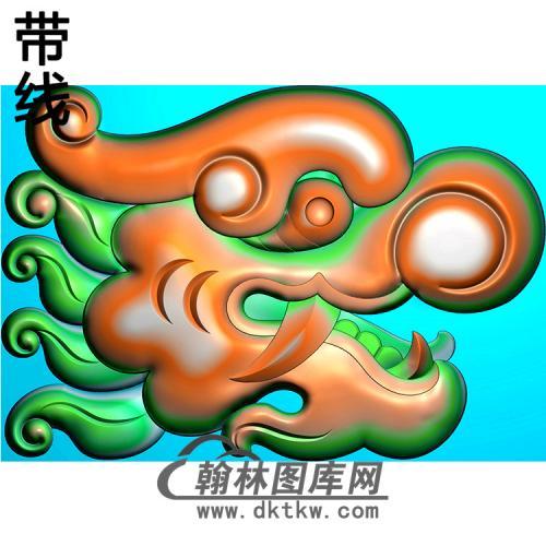龙头耳朵精雕图(MBED-0811)