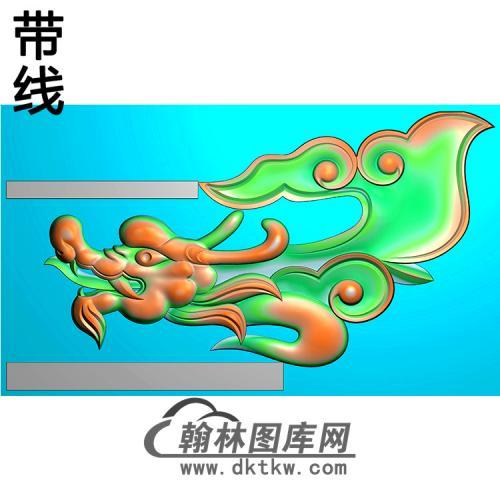 草龙耳朵精雕图(MBED-0812)