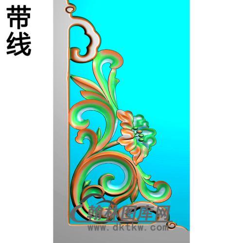 洋花耳朵精雕图(MBED-0817)