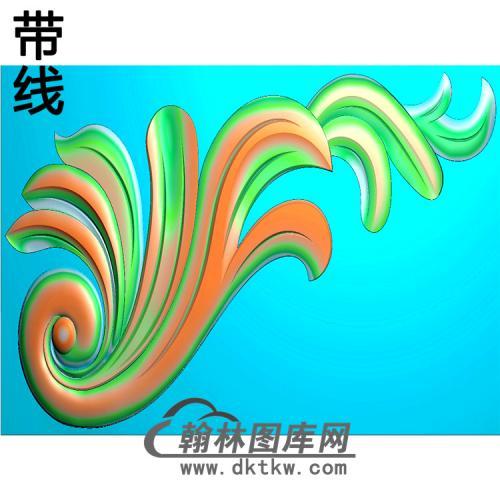 洋花耳朵精雕图(MBED-0818)