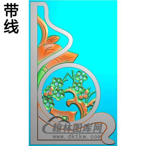 梅花抱鼓精雕图(MBBG-0939)