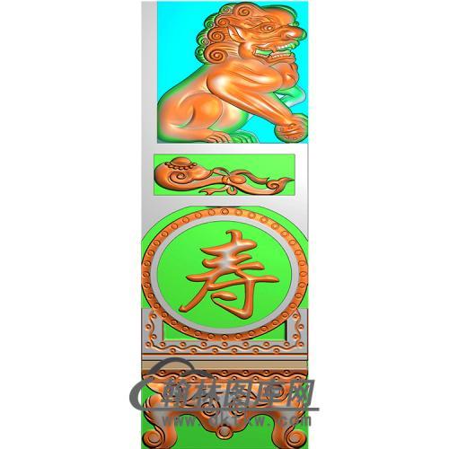 福寿抱鼓精雕图(MBBG-0946)