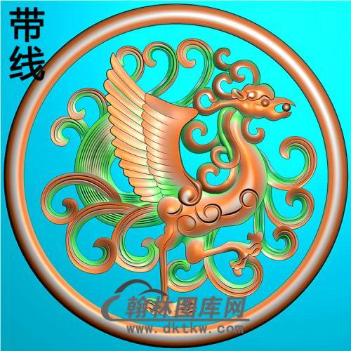 草凤抱鼓精雕图(MBBG-1057)