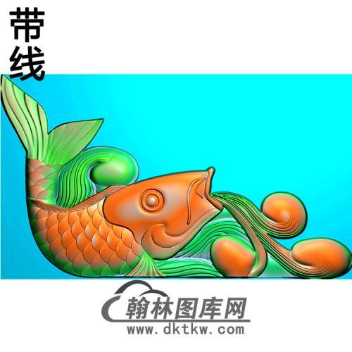 鱼抱鼓精雕图(MBBG-1079)