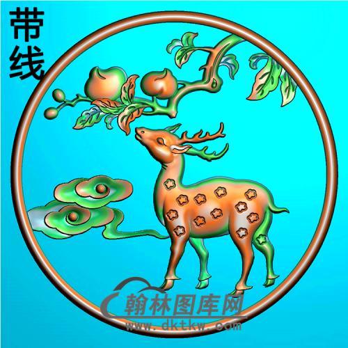鹿抱鼓精雕图(MBBG-1083)