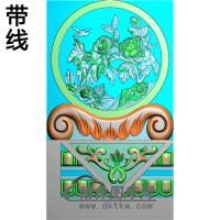 牡丹抱鼓精雕图(MBBG-1095)