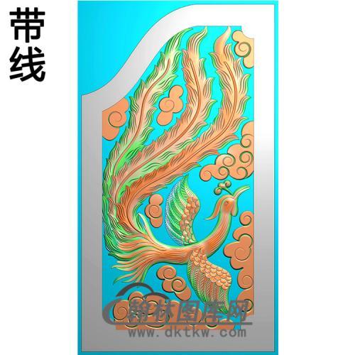 凤抱鼓精雕图(MBBG-1124)