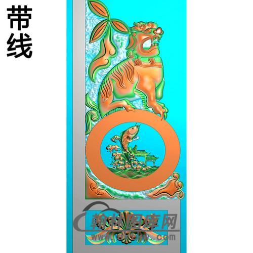 鲤鱼龙门抱鼓精雕图(MBBG-1126)