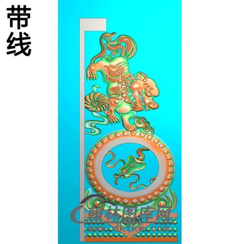 八宝抱鼓精雕图  (MBBG-1127)