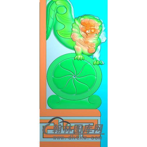 狮子抱鼓精雕图(MBBG-1131)