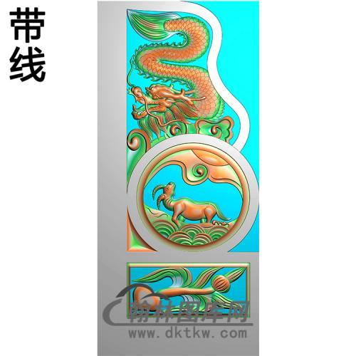 龙抱鼓精雕图 (MBBG-1133)
