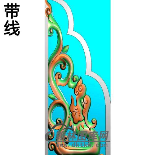 草龙抱鼓精雕图(MBBG-1134)