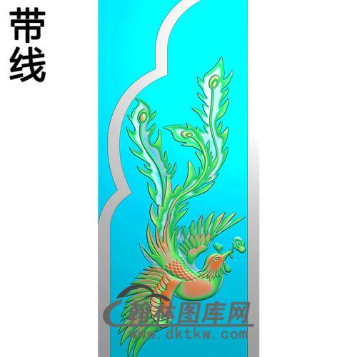 凤抱鼓精雕图(MBBG-1136)