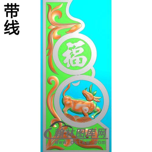 福寿抱鼓精雕图 (MBBG-1138)