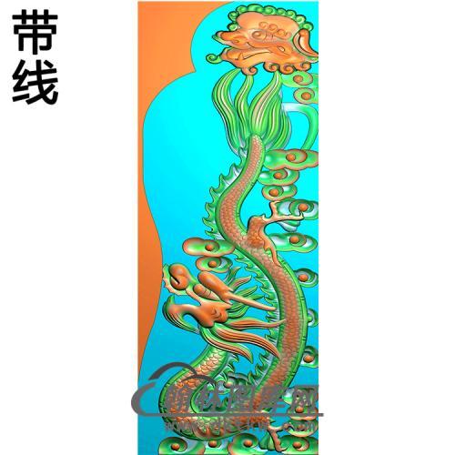 龙抱鼓精雕图(MBBG-1139)