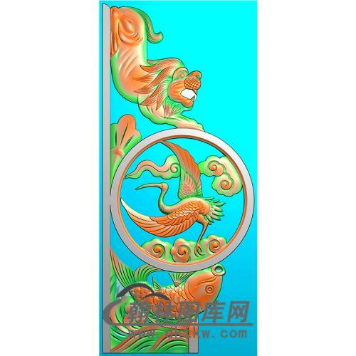 鹤抱鼓精雕图(MBBG-1144)