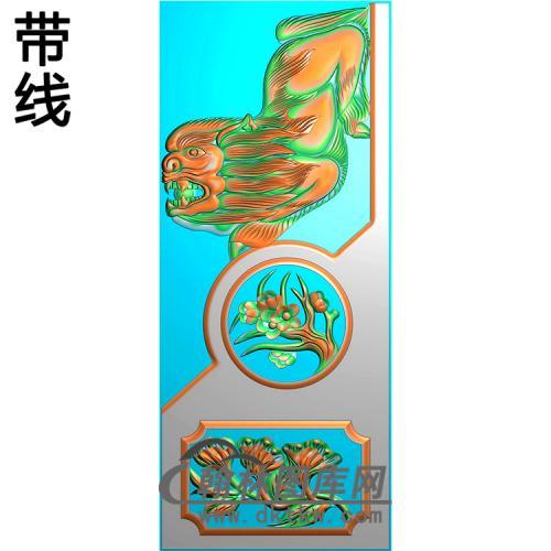 梅花抱鼓精雕图(MBBG-1145)