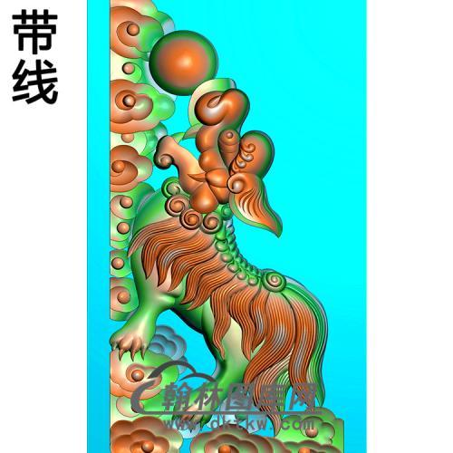 狮子抱鼓精雕图(MBBG-1146)