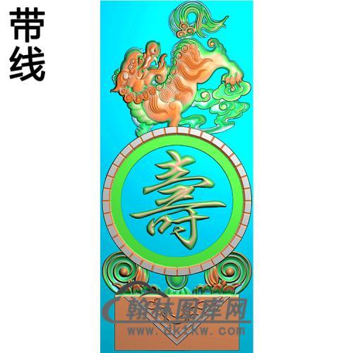 福寿抱鼓精雕图(MBBG-1147)