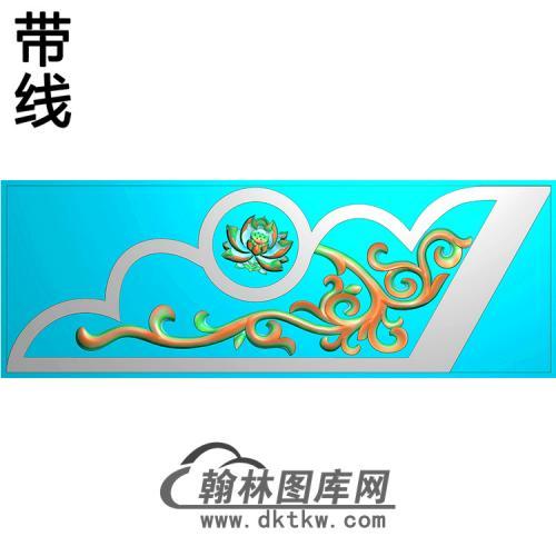 洋花抱鼓精雕图(MBBG-1149)
