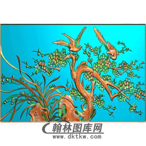 梅花精雕图(MBSC-2474)