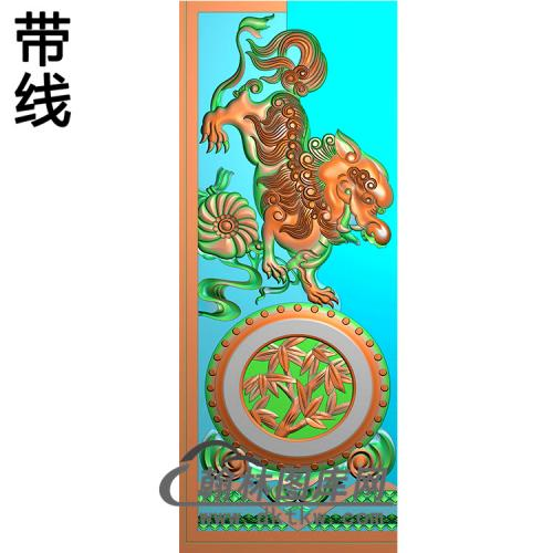 狮子精雕图(MBSC-2483)