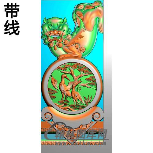 狮子抱鼓精雕图(MBSC-2487)