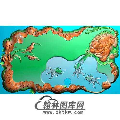 茶盘精雕图(MBSC-2494)