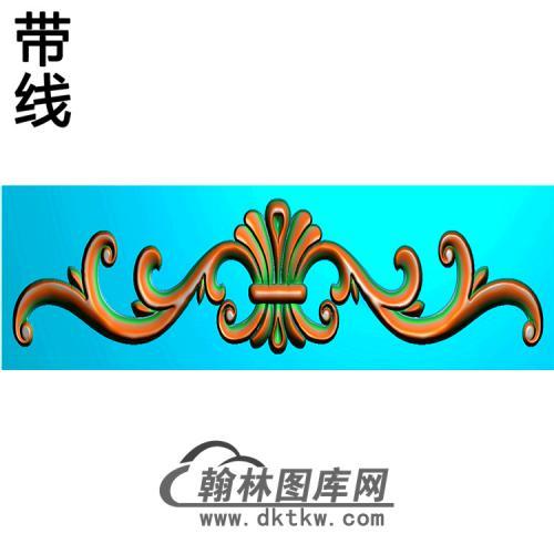 洋花横梁精雕图(MBHL-1219)