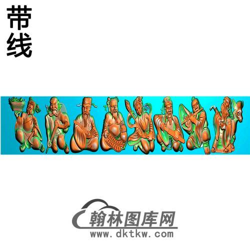 双龙横梁精雕图 (MBHL-1257)
